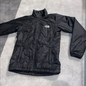 The North Face black down jacket